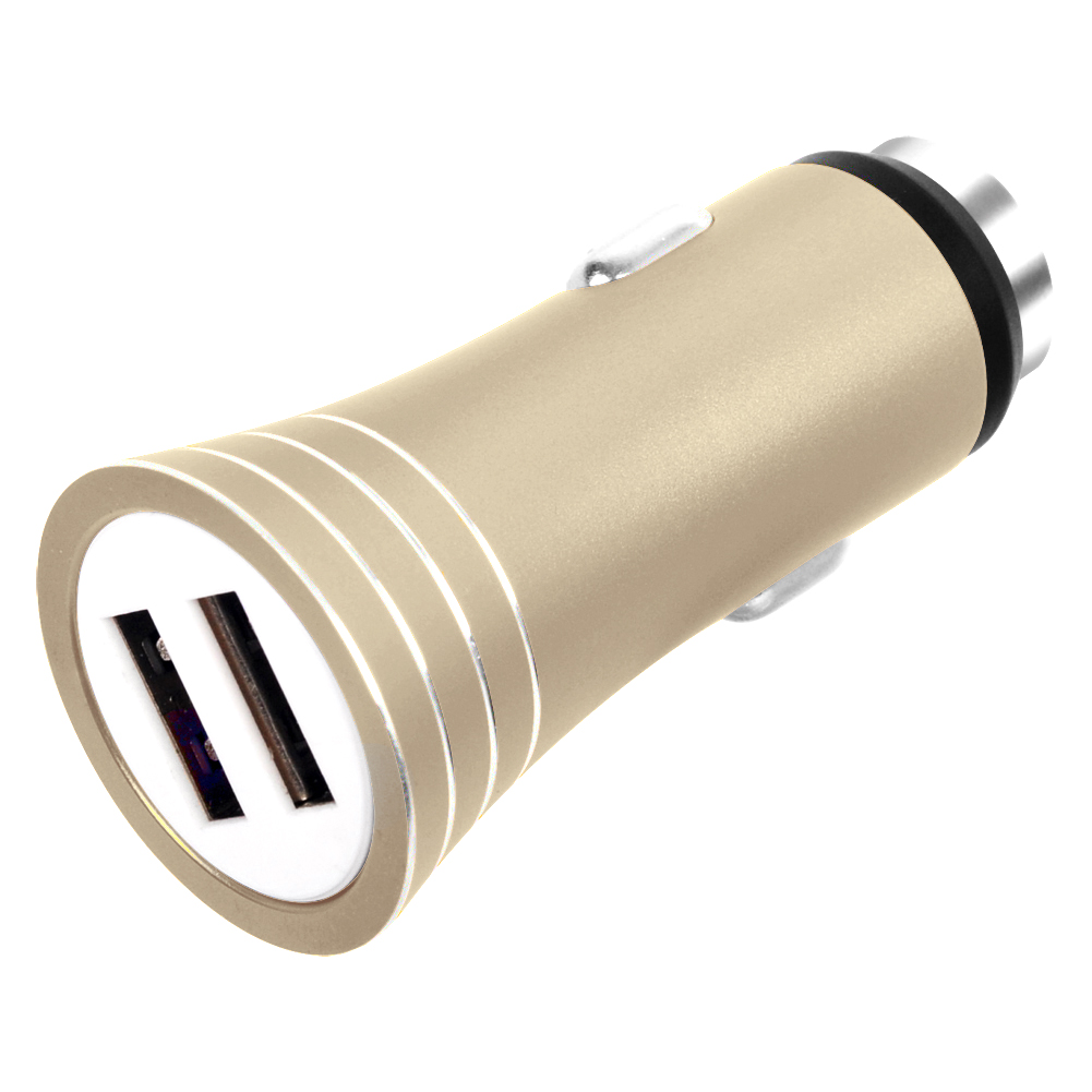 AC004 Dual USB Car charger ,aluminum housing with hammer 3.1A/1A max.DC5V 3.1A output ,15.5W CE FCC